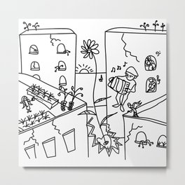 people are like cities with secret rooftops Metal Print