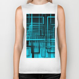 Black and blue abstract Biker Tank