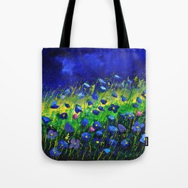 Blue poppies 674160 Tote Bag