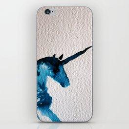 Blue Unicorn iPhone Skin