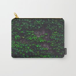 Green Ivy on the Brick Wall (Color) Carry-All Pouch