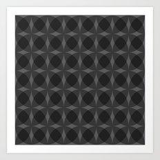 denuti (black) Art Print