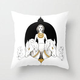 VII: The Chariot Throw Pillow