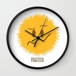 frazzled emoji #society6 Wall Clock