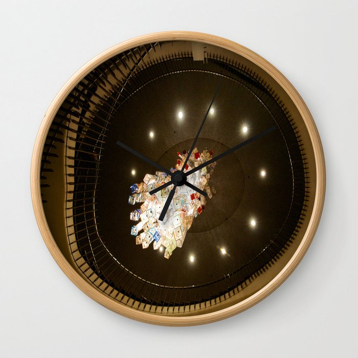 Glass in the ceiling Wall Clock