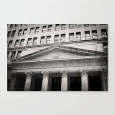 Federal Reserve Bank of Chicago Black and White Canvas Print