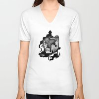 dramatical murder V-neck T-shirts featuring Murder by Iribú