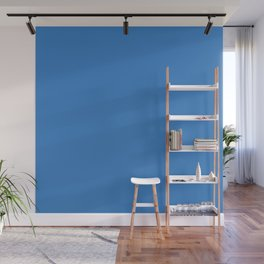 Simple Solid Color Windows Blue All Over Print Wall Mural