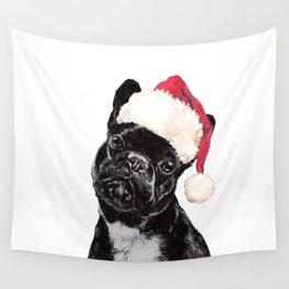 Christmas Bulldog Wall Tapestry