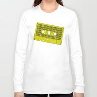 tape Long Sleeve T-shirts featuring Caution Tape by Resistance