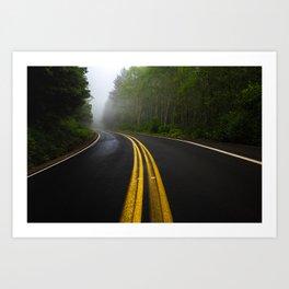 Misty Turn Art Print