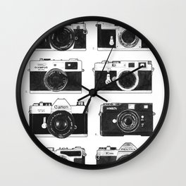 Collections - Appareil Photographiques Wall Clock