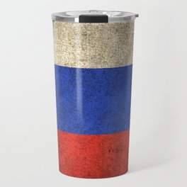 Old and Worn Distressed Vintage Flag of Slovenia Travel Mug