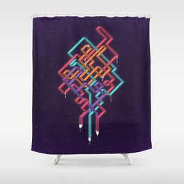 Weaving Lines Shower Curtain