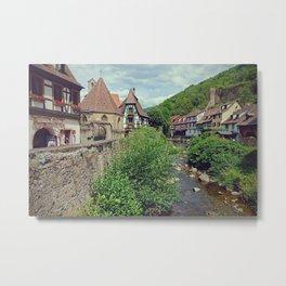 Kaysersberg, medieval french village - Fine Arts Travel Photography Metal Print