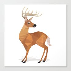 Low Poly White-tailed Deer Canvas Print