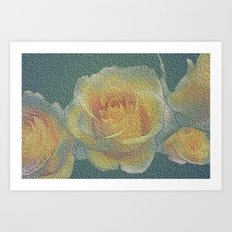 promised  a rose garden Art Print