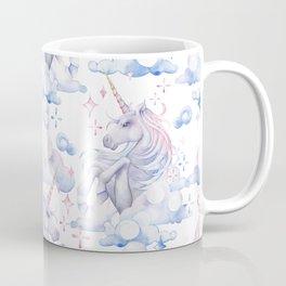 Watercolor unicorn in the sky Coffee Mug
