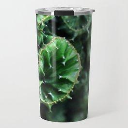 Emerald green Cactus Botanical Photography, Nature, Macro, Travel Mug