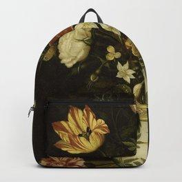 Ambrosius Bosschaert - Still life with flowers in a Wan-Li vase (1619) Backpack