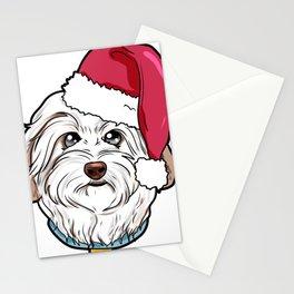 Havanese Dog Christmas Hat Present Stationery Cards