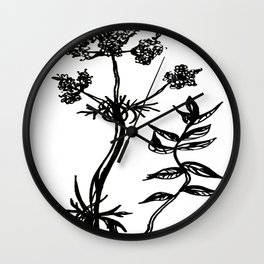 Valerian Root Wall Clock