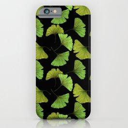 Ginkgo Leaf - Black iPhone Case