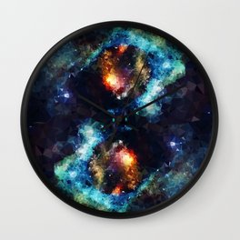 Abstract Galaxy Infinity Wall Clock