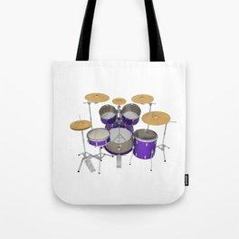 Purple Drum Kit Tote Bag