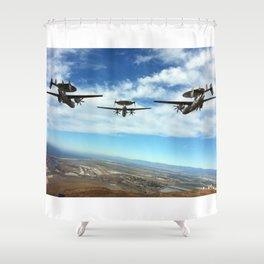 Hawkeyes Fly Over Shower Curtain