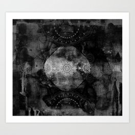 a shouting ghost moves across the sky Art Print