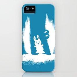 cornered! (bunny and crocodile) iPhone Case