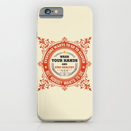 Wash your Hands - Logo iPhone Case