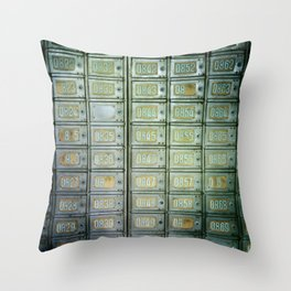 PO boxes Throw Pillow