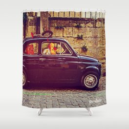 Red Rider Shower Curtain