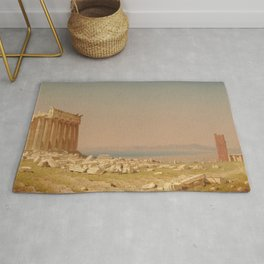 Sanford Robinson Gifford Ruins of the Parthenon 1880 Painting Rug