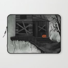 Haunted House and Jolly Pumpkin Laptop Sleeve