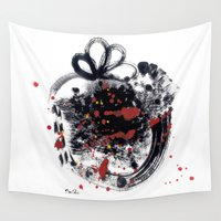 psycho Wall Tapestries featuring Sweet psycho by RayaJane