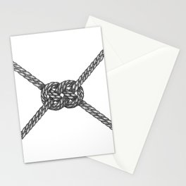 Double Coin Knot White Stationery Cards