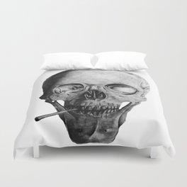 Smoking Skull Duvet Cover