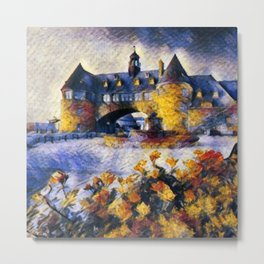 Narragansett Towers, Narragansett, Rhode Island portrait painting Metal Print