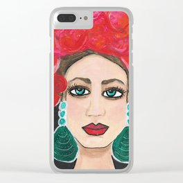 Rosie Life of the Party Clear iPhone Case