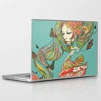 geisha Laptop & iPad Skins featuring Geisha by Huebucket