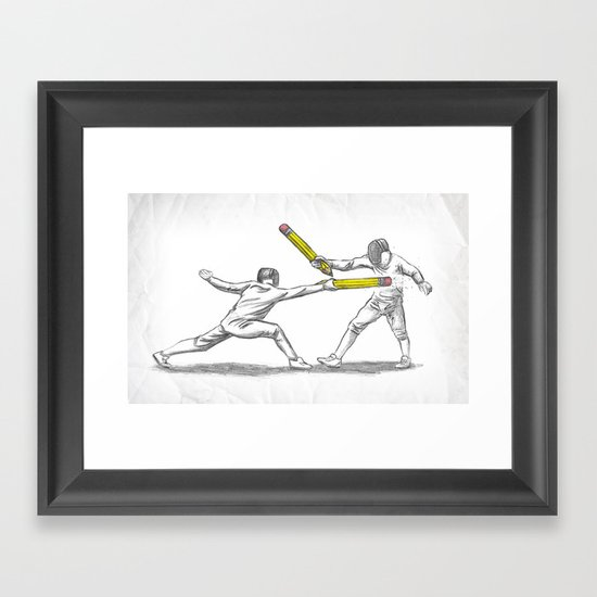 Parry Thrust Pencil Erase Framed Art Print