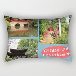 Grüße aus Leverkusen Japanischer Garten Rectangular Pillow