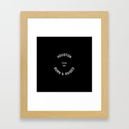 Houston - TX, USA (Badge) Framed Art Print