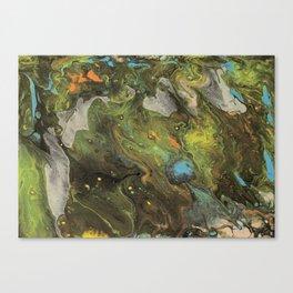 Acrylic Paint Pour (Dirty Pour) 1 Canvas Print