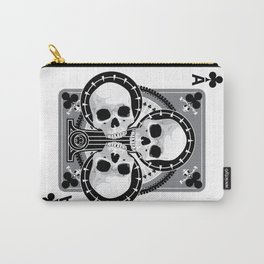 Skull Ace of Clubs Carry-All Pouch