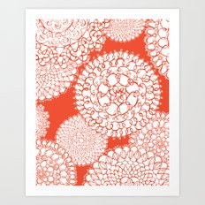 Delightful Doilies - Saffron Art Print