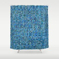 pacific rim Shower Curtains featuring Pacific by Tofu